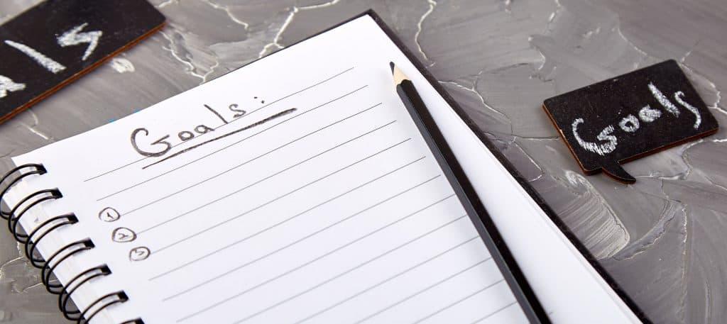 Stel doelen om motivatie voor afvallen te behouden