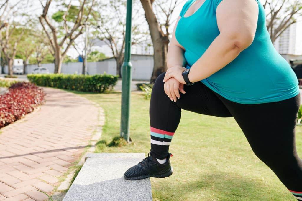 Spieren rekken afvallen benen