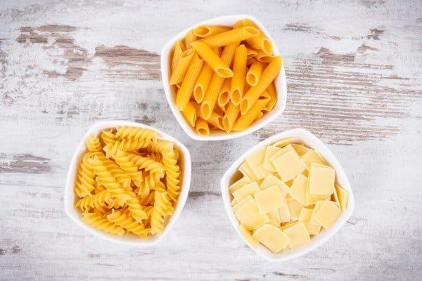 In pasta zitten veel koolhydraten