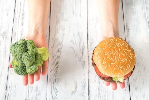 Vet verbranden door het kiezen van gezond voedsel