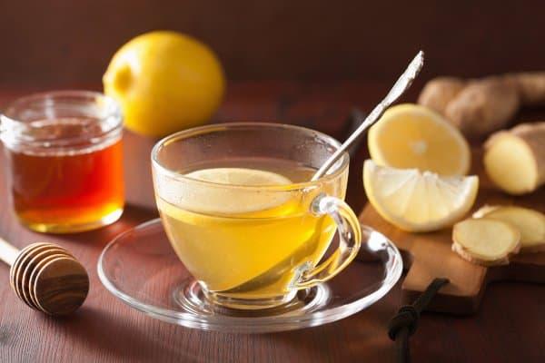 Gemberthee met citroen kan je helpen met afvallen