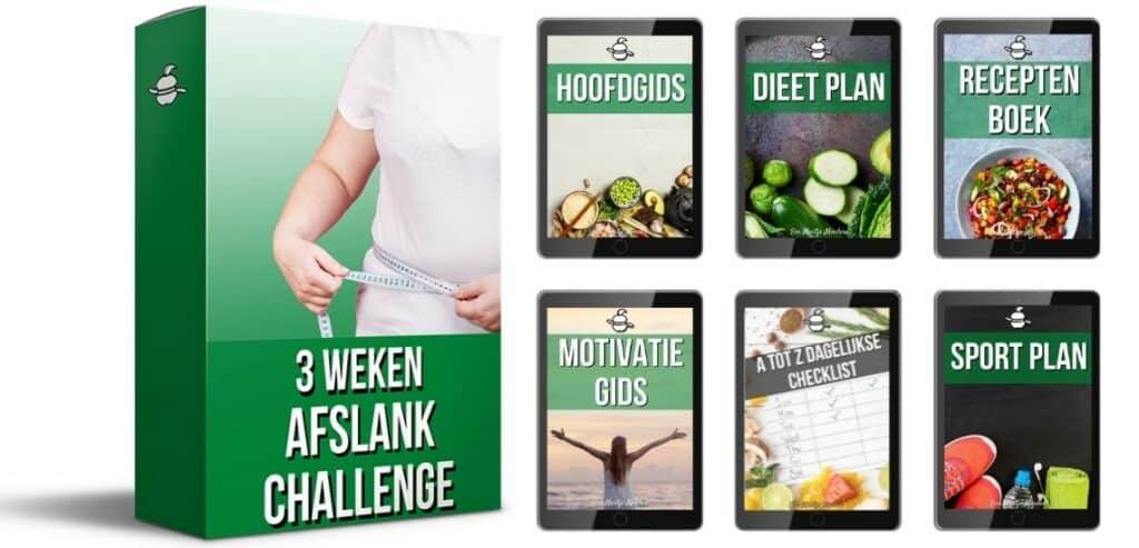 3 Weken Afslank Challenge waarmee je kan afvallen zonder sporten