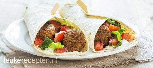 Gezonde falafel wraps