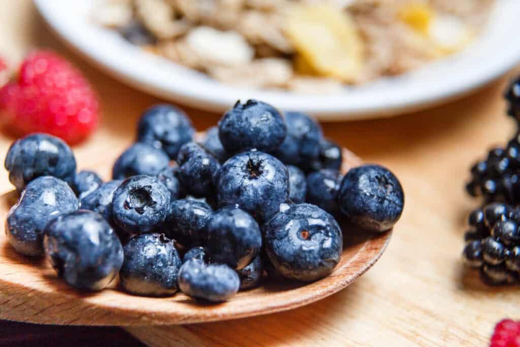 blauwe bessen gezond als ontbijt