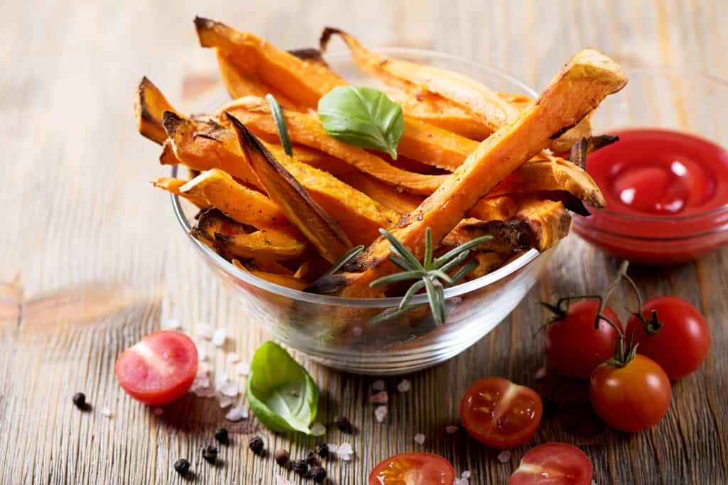 is zoete aardappel gezond als aardappelfriet